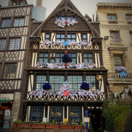 Habillage Façade - Restaurant La Couronne - Rouen